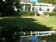Welgemeend Manor House and the lawn