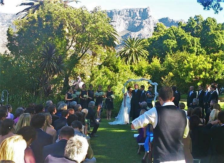 Wedding in the Welgemeend Garden