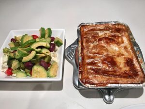Homemade Chicken Pie and Salad