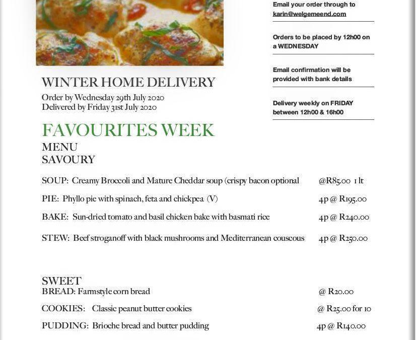 Welgemeend Home Style Meals delivered to your door