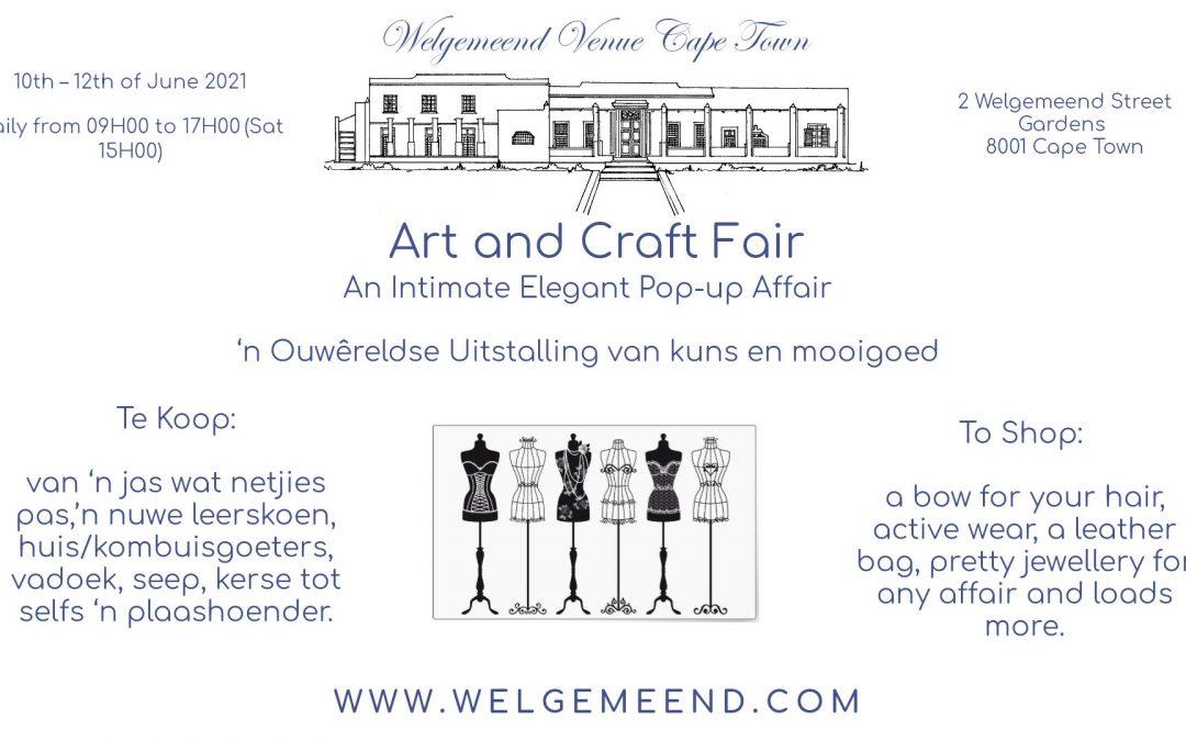 Welgemeend Venue Cape Town Art and Craft Fair 2021
